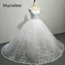 Buy Mucielee Luxury Ball Gown Wedding Dresses Cap Sleeves Lace Back Big Princess Bridal Gowns Vestido De Noiva 2017 for $272.00 in AliExpress store