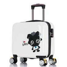 Lovely Small gray Luggage Children Trolley Travel Luggage 16Inch Cartoon Kids Luggage Suitcases