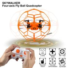 Mini Drone Ball Helic Max Sky Walker 1340 2.4GHz 4CH Fly Ball RC Quadcopter 3D Flip Roller headless Drone RC Helicopter toys(China)