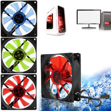 90mm LED Light 3pin PC Desktop Computer Case Cooling Cooler Fan Low Noise 9025 C26