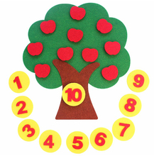Beautiful Kids Early Learning Numbers Apple Tree Nonwoven DIY Felt Fabric(China)