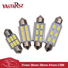 YAstarsz 4pcs 31mm 36mm 39mm 42mmC5W CANBUS Car Chandelier 6 SMD 5630 5730 LED ERROR FREE Car Interior Dome Light Bulb White(China)