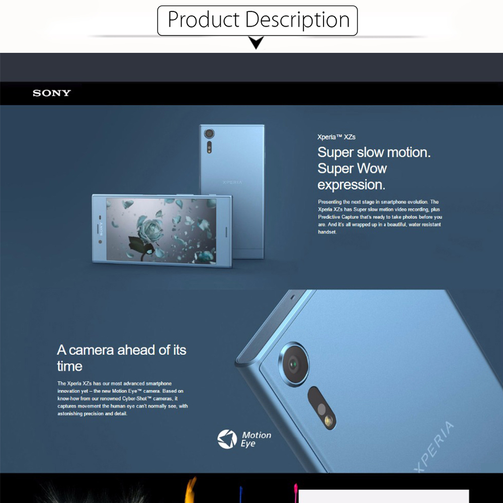 2017 NEW Original Sony Xperia XZs G8232 Mobile Phone 5.2″ 4GB RAM 64GB ROM 19MP Snapdragon 820 Dual SIM LTE Cell Phone 2900mAh