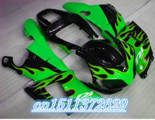Bo Cheap Custom plastic motorcycle fairings kit for 1998 1999 YZFR1 YZF R1 98 99 black green fairing kits(China)