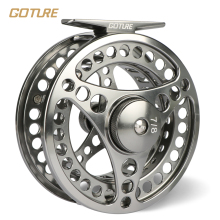 Goture 3/4 5/6 7/8 9/10 WT Fly Fishing Reel CNC Machine Cut Fishing Reel Large Arbor Die Casting Aluminum Fly Reel with bag