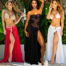 Sexy Summer Beach Cover Up Bikini Swimwear Coverup Sarong Wrap Pareo Skirt Swimsuit Swim Custome Cover Ups Beachwear Sundress