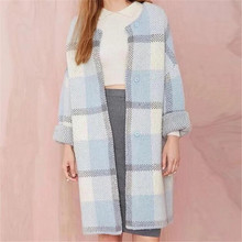 sky white plaid cardigan sweater women poncho knitting cardigans women sweaters long sweater elegant ladies Christmas sweater