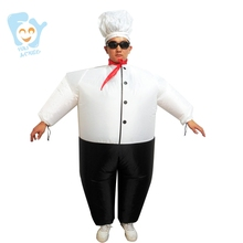 Inflatable Halloween Costume Big Chef Fancy Dress Cosplay Carnival Airblown Suits