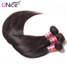 UNICE HAIR Company Indian Straight Hair Bundles 1 Piece Human Hair Weave 8-30inch Can be mixed Non Remy Naturals Hair Extensions