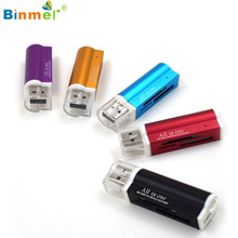Binmer Advanced Card Reader  pro duo For Micro SD SDHC TF M2 MMC MS PRO DUO All in 1 USB 2.0 Multi Memory  1 piece