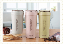4000 & 500ML, wheat straw plastic double-wall tumbler, thermos cup, china supplier, coffee mug, cafeteira cup, my bottle, cafe