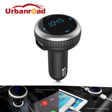 Urbanroad Black Silver Car Fm Transmitter Bluetooth USB Mp3 Player Car USB Charger Blue Tooth Fm Transmitter Wireless Handsfree(China)