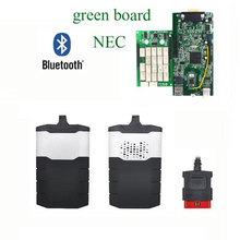 A quality green board scanner for delphi ds150e 201503R3 keygen bluetooth obd obd2 obdii diagnostic scanner tool with nec relays