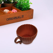 Silicone Cupcake Cup Muffin Kitchen Baking Tea Saucer Teacup Mold Mould