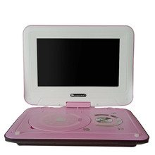 12 inch HD mobile DVD player with small TV portable evd player CD player