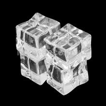 20pcs Fake Artificial Acrylic Ice Cubes Crystal Barwar Wedding Party Decoration Home Display 2 x 2cm