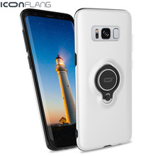 ICONFLANG Solid Color Case For samsung Galaxy S8 Cases With Ring Coolfun Series Hard PC Plastic Shell for samsung Galaxy S8 plus(China)
