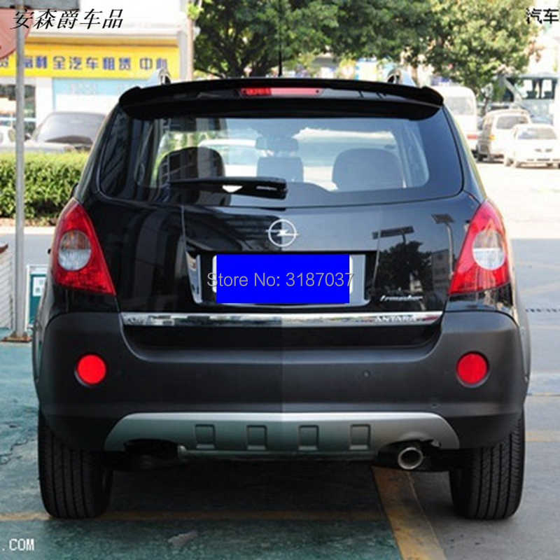 For Opel Antara Spoiler 2008-2013 ABS Plastic Unpainted Color Rear Roof Spoiler Wing Trunk Lip Boot Cover Car Styling