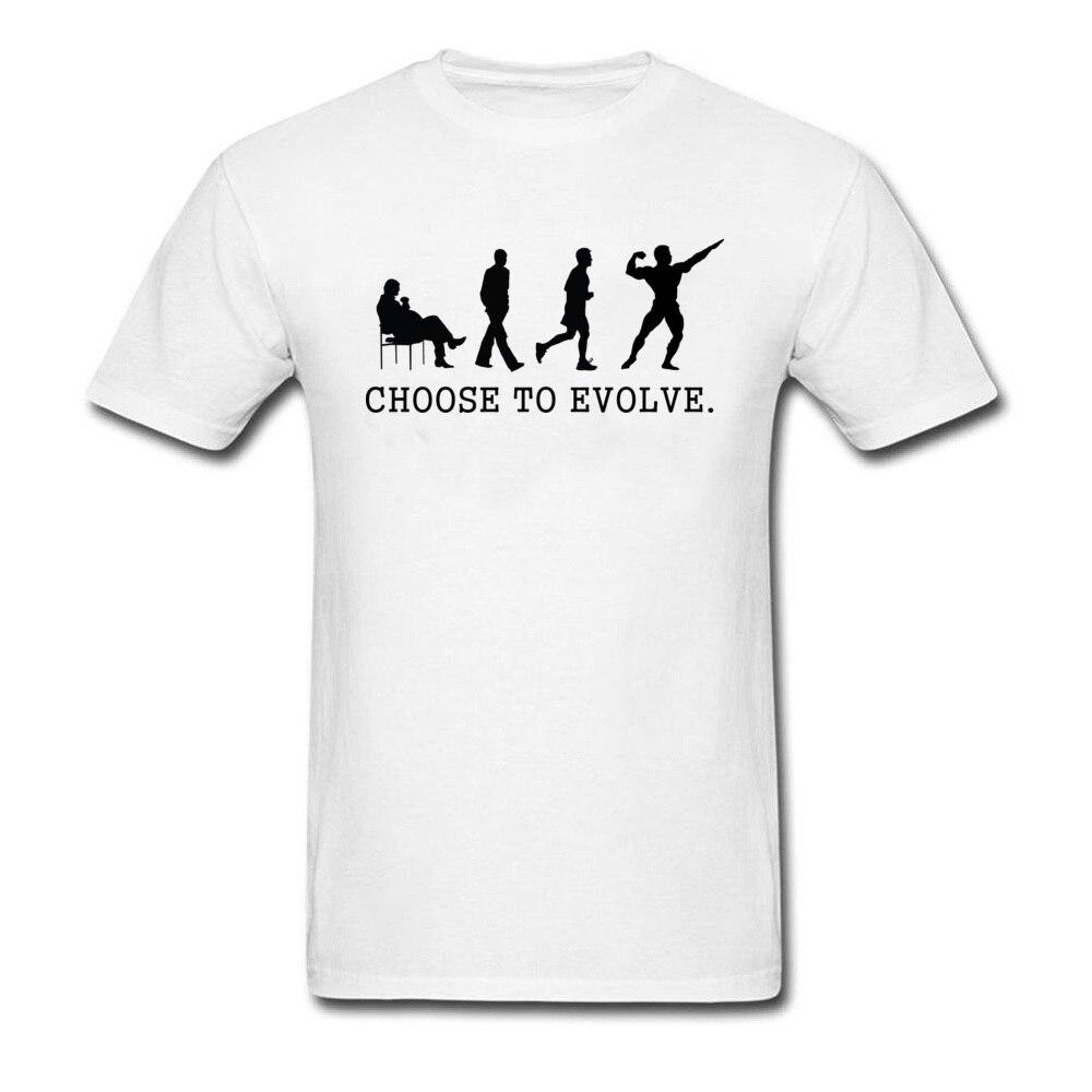 Choose to Evoe Tops Shirt Fashion O-Neck Printed Short Sleeve 100% Coon Fabric Student T Shirt Design Tee Shirts Choose to Evoe white