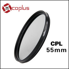 Mcoplus Green-L 55 mm Circular-Polarizing C-PL CpL Lens Filter For DSLR Camera Camcorder,Black, 55mm