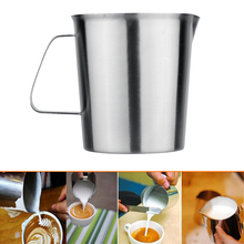 500/1000ML Stainless Steel Milk Mug Cup Frother Pitcher Milk Foam Container Measuring Cups Coffe Appliance Kitchen Tool