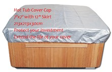 "free shipping hot tub cover cap prevent snow, rain&dust, 213x213x30cm 7' x 7'x 12"" ,can customize spa, swim spa cover bag"