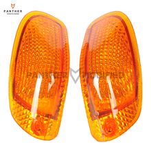 Smoke Orange Motorcycle Front Turn Signal Blinker Indicator Lens Moto Lighting Cover case for Kawasaki ZZR 1100 ZX11 1993-1999
