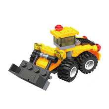 Original City Construction Excavator Building Blocks Bricks Toys Brinquedos Forge World Compatible for Kid Baby Toy playmobile(China)