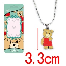 Cartoon Movie Teddy Bear Ted Pendant Necklace Chain Option Zinc Alloy jewelry accessories Cute Charms fashion GIFT