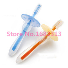 1Pcs Silicone Kids Teether Training Toothbrushes For Children Baby Toothbrush Infant Newborn Brush Tool free shipping
