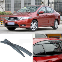 Jinke 4pcs Blade Side Windows Deflectors Door Sun Visor Shield For Honda CITY 2008-2013(China)