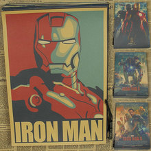 Vintage Paper Retro anime poster - Iron Man -Posters/kid cudi poster/Vintage Home Wall sticker Decor 30*21CM