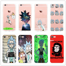rick and morty Clear Cell Phone Case Cover For Apple iPhone 6 6S 5 5S 5C SE 6 6Plus 7 7Plus hard plastic shell(China)