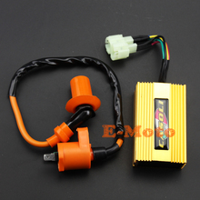 High Performance Ignition Coil + Racing 6 pin CDI Chinese GY6 50cc125cc 150cc TAOTAO E-Moto