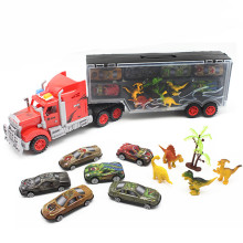 Portable Truck Plastic Cars Models Toys Pixar Car With Dinosaur Children Educational Transport Vehicle Simulation Toys For Boys(China)