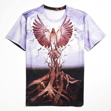 New Fashion 3d Printing Eagle Tree Roots PatternT-shirt Men/Women Casual Short Sleeve T Shirt Summer Style Tops Plus Size