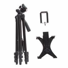 "Professional Flexible 1/4"" Camera Phone Pads Tripod Mount Stand Holder For IPhone iPad Tablet PC Digital Camera Travel Tripod(China)"