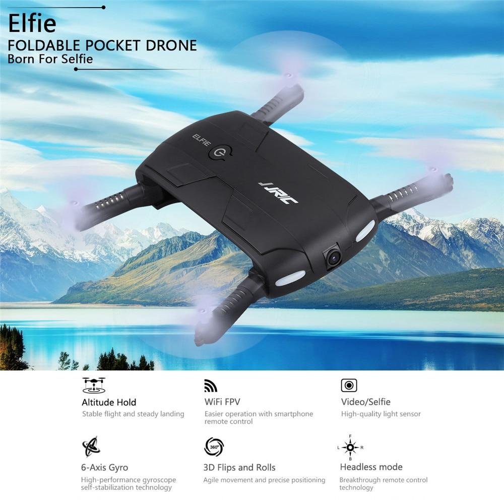 JJRC H37 ELFIE Foldable Pocket Selfie Drone WiFi FPV Phone Control Quadcopter Altitude Hold G-Sensor Mode 720P HD Selfie Drone 02
