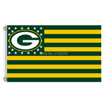 Us America Country Green Bay Packers Flag Banners Sport Football Team Flags 3x5 Super Bowl Champions Banner Fans World Series(China)