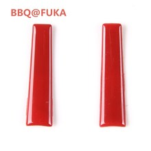 BBQ@FUKA 2pcs Blue/Red Gear Shift Lever Sticker Car Cover Trim ABS Fit For Ford Mustang 2015 2016 2017 Car-Styling Car Accessory(China)