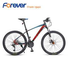 FOREVER new design 26 inch 27 speed aluminum alloy mountain bike double disc brakes men and women cycling bike