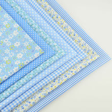Booksew Cotton Fabric light Blue Color Various Design Fat Quarter Pillow Quilting Meter Sewing Texitle Tissue Patchwork Curtain(China)