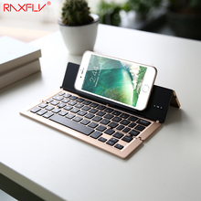 RAXFLY Universal Wireless Bluetooth Keyboard For iPhone 6 7 6s 7 Plus 5S SE For iPad Air 1 2 Tablet Phone Stand For IOS Android