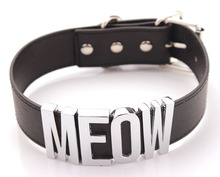 Meow Choker Black Choker Meow Necklace Cat Necklace Cat Costume Halloween Costume Gift For Lover