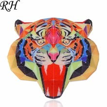 Acrylic Tiger Brooch For Women Brooch Collar Pins Corsage Printing Bohemia Animal Brooch Badges Ethnic Jewelry Accessories(China)