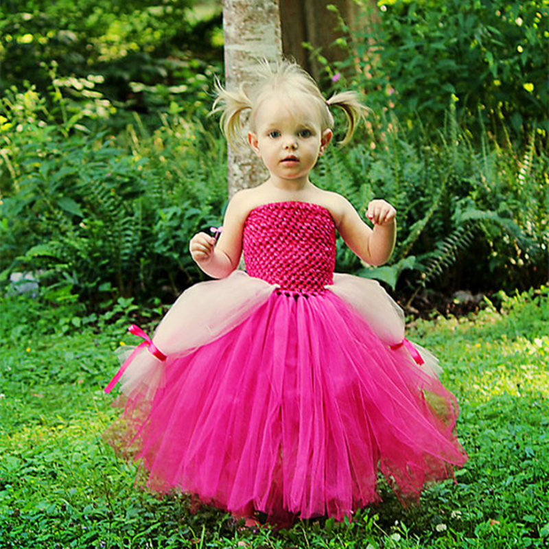 New Design Sleeping Beauty Costume Baby Girls Dress Hot Pink White Baby Girls Clothing Set for Cosplay Party Dresses<br>