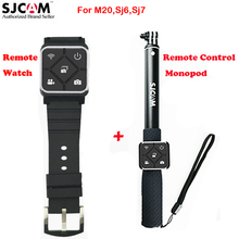 Original Sjcam Remote Control Watch + Remote Monopod for Sjcam M20 Sj6 Legend Sj7 Star Sports Action Camera DVR