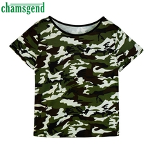 CHAMSGEND Good Deal Cotton New Fashion Women Short Sleeve Summer Casual Camouflage Tops T Shirt   1PC_U00442
