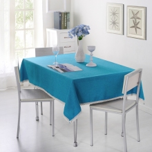 SunnyRain 1-Piece Solid Color Tablecloth For Dining Table Cloth Rectangle Table Linen Table Cover For Tea Table(China)