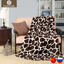 Naturelife Soft Warm Blanket Coral plaid Blankets Travel Sofa Leopard print Fleece Blankets For Bed Soft Fluffy Warm Coberto